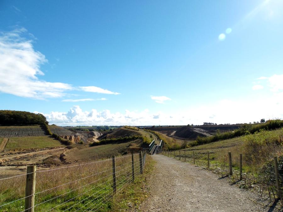 Paysages étranges dans la campagne anglaise