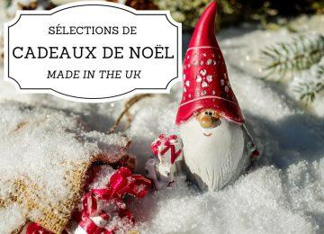 Sélection de cadeaux de Noël made in the UK