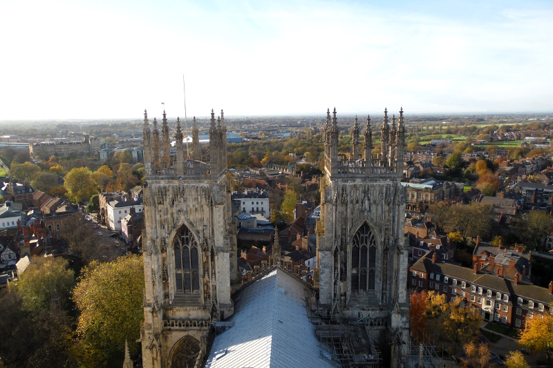 York vue du haut de York Minster