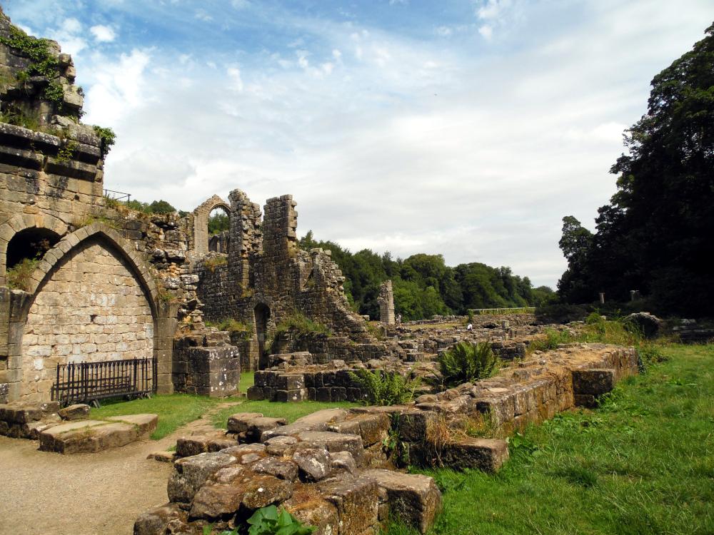 Les ruines de Fountains Abbey