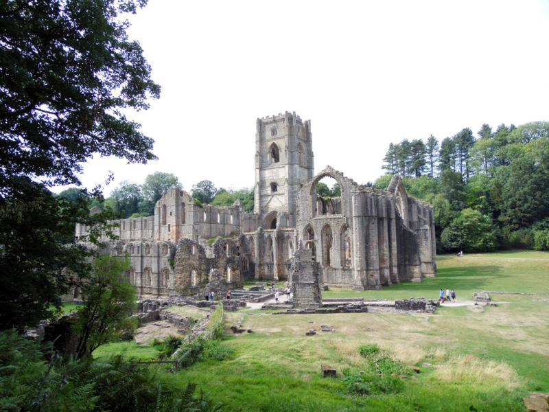 Les ruines de Fountains Abbey