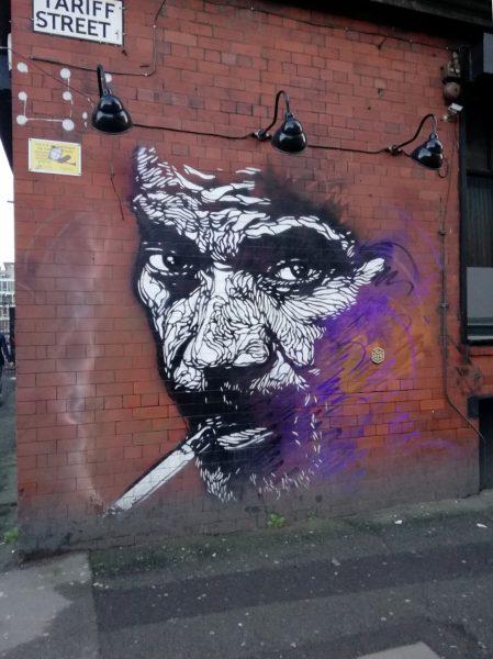 L'artiste français C215 repeint les murs de Manchester