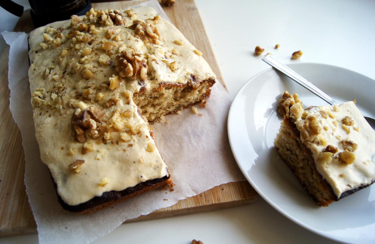 Un autre classique au Royaume-Uni : le Coffee and Walnut Cake