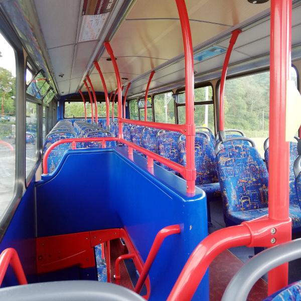 Un bus vide à Edimbourg