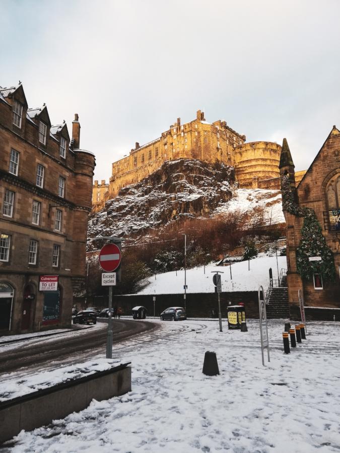 Edimbourg Castle sous la neige