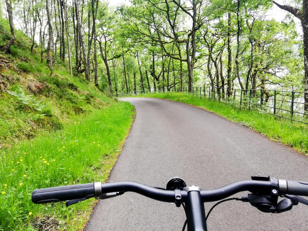 Faire du vélo autour du Loch Katrine